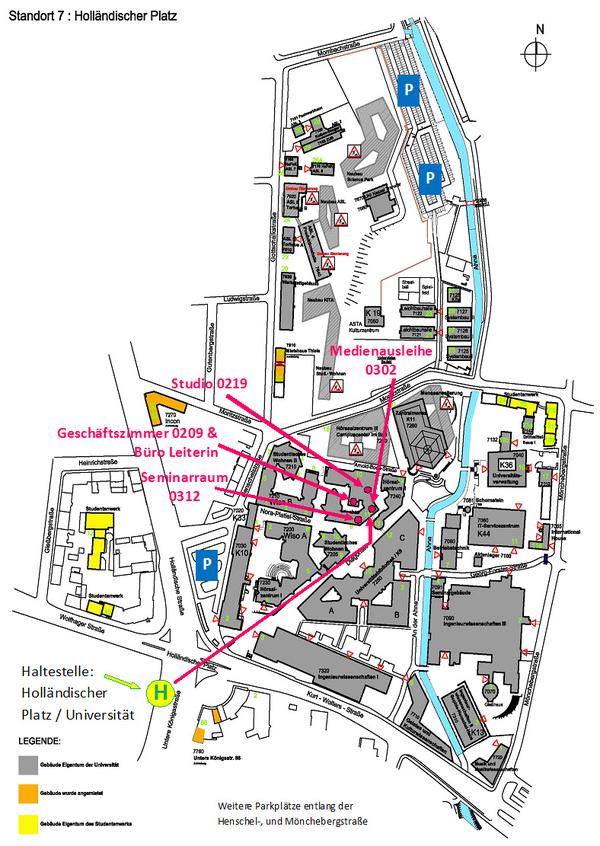 Lageplan SCL Campus