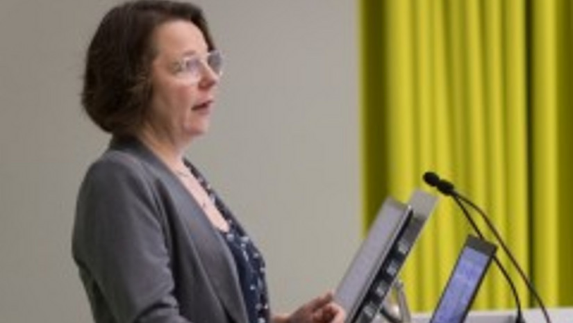 Ilse Müllner in der Vorlesung