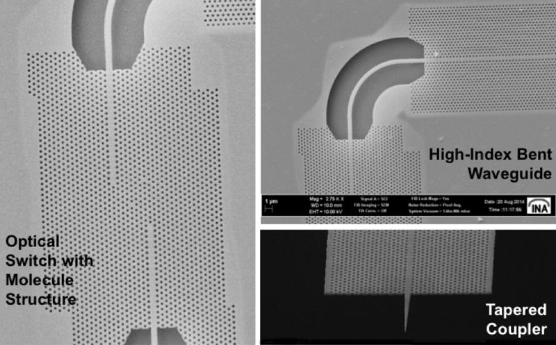 Optischer Schalter auf der Basis gekoppelter Nanokavitäten (in Kooperation mit Thales)