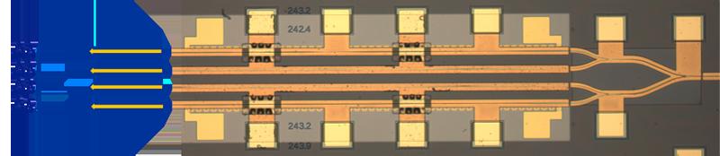 Monolithisch integrierter Wellenlängen-abstimmbarer ultra-schmalbandiger Laserchip auf der Basis von Quantenpunktmaterial
