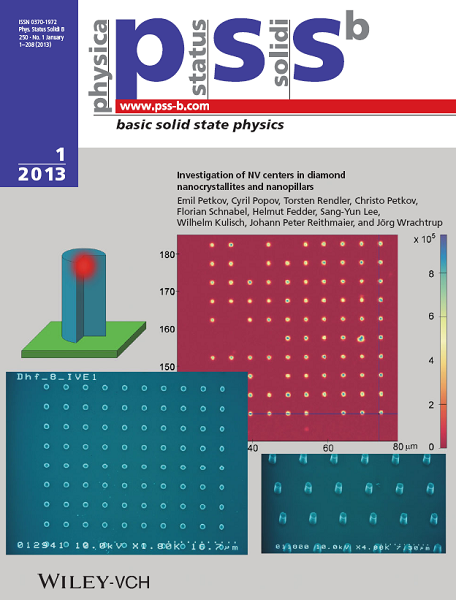 Fig. 1: Physica Status Solidi B cover (January 2013).