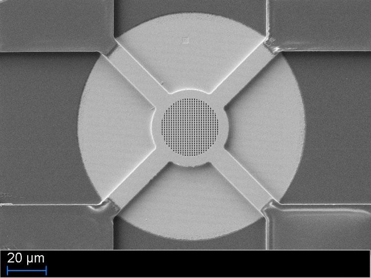 Bild: Photonische Kristalle auf MEMS Filter