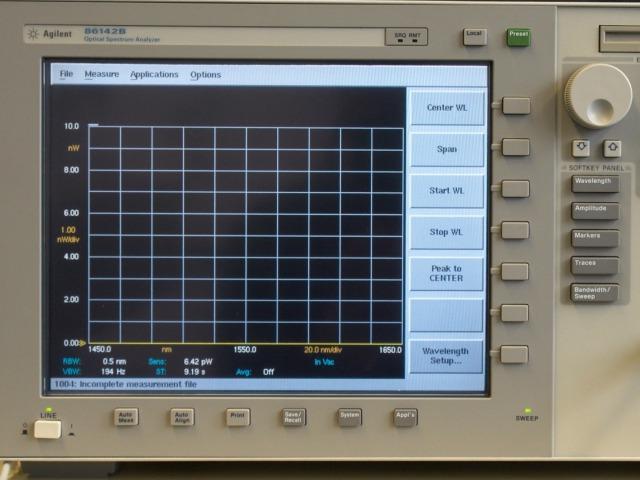Foto: Agilent 86142 B Optischer Spektrumanalysator
