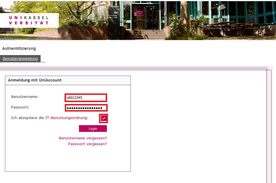 User-App des Identitätsmanagements