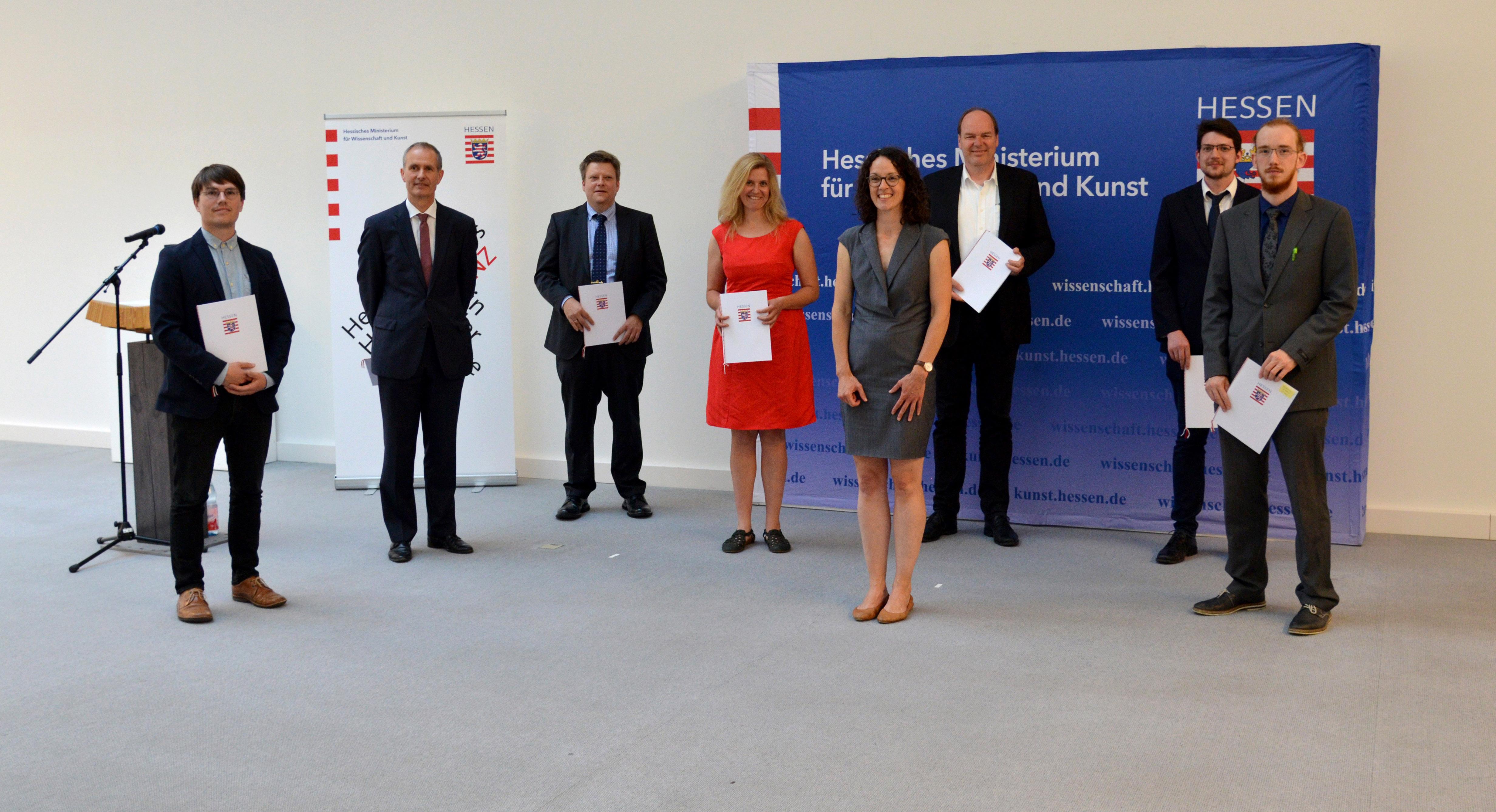 Gruppenfoto Lehrpreis Hessen 2020